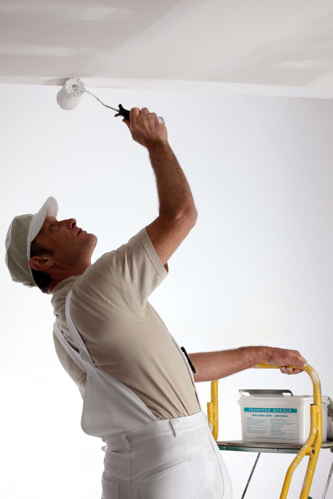 Painting drywall ceiling