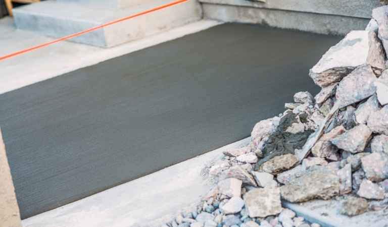 how to patch cracked concrete patio